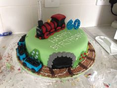 Train cake. Steam train.