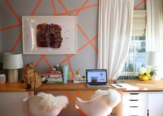 Gorgeous and colorful office space via @joythebaker ! Check it out!