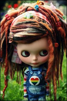 Blythe with dreads and attitude♡