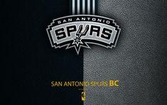 Download wallpapers San Antonio Spurs, 4K, logo, basketball club, NBA, basketball, emblem, leather texture, National Basketball Association, San Antonio, Texas, Southwest Division, Western Conference