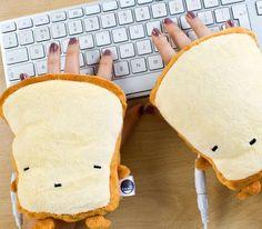 USB Toast Hand Warmers #USB #HandWarmers #Gadgets