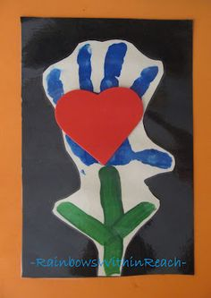 Handprint + Heart for Mother's Day (poem is in blog article)