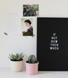 If not not then when #business #quote #quoteoftheday #qotd #office #homeoffice #desk #stahlpink #letterboard #cocochanel #onmydesk