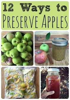 """The Many Ways Of Preserving Apples Homesteading  -  - FOOD STORAGE -The Homestead Survival .Com     """"Please Share This Pin"""""""
