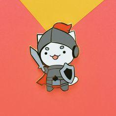 Knight Cat Enamel Pin by JustDuet on Etsy