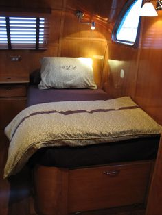 Built in beds in back bedroom.... with storage underneath