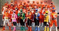Gokager e Red Rangers - Super Sentai
