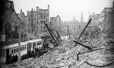 Dresden after the bombing in 1945.  Photograph:   Bettmann/CORBIS