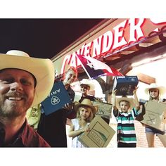 We are cowpokes now. {We've all been outfitted with real cowboy boots to protect our ankles from chiggers and summer straw hats to prevent us from becoming rednecks...the literal kind... we might already be the figurative kind.} #wehaveadonkey #lawsontxposse #cavenders @cavenders #yeehaw