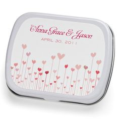 Heart Garden Mint Tin Wedding Favor. Great site to find favors and other wedding needs!