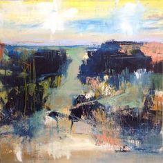 """Saatchi Art Artist Hennie van de Lande; Painting, """"Blue is beautiful"""" #art"""