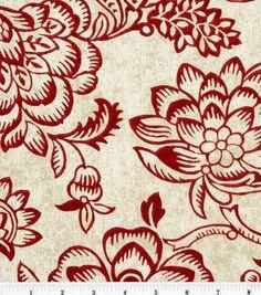 "45"" Home Essentials Print Fabric-Bircham/Red"