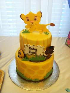 Find and save ideas about Lion King Baby Shower Cakes Toppers on Party XYZ, the world's catalog of invitation ideas. King Cake Baby, Lion King Cakes, Simba Bebe, Simba Rey Leon, Lion King Baby Shower, Lion King Birthday, Animal Cakes, Le Roi Lion, Baby Shower Cakes