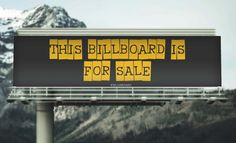 This Online BillBoard is actually for sale #lol