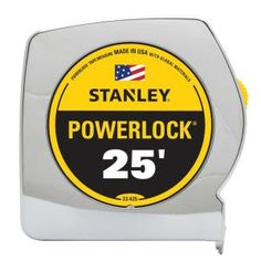 Make measurements and markings easier with the help of this Stanley PowerLock Tape Measure. Corrosion resistant for added durability. Peel And Stick Tile, Stick On Tiles, Peel And Stick Wallpaper, Decorative Tile Backsplash, Backsplash Panels, Garage Door Insulation Kit, Building A Floating Deck, White Shiplap, Diy Deck