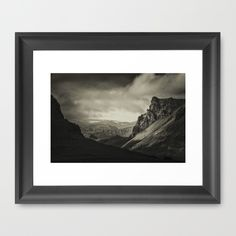 """The Scoop frame is made from solid wood with a contemporary, scooped profile measuring 1.06"""" wide x 1.06"""" deep. A gesso coating gives the moulding rich color and a smooth finish. Premium shatterproof acrylic protects the art print, while an acid free dust cover on the back provides a custom finish. Includes wall hanging hardware."""