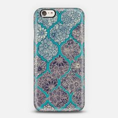 Moroccan Floral Lattice Arrangement iPhone 6 case by Micklyn Le Feuvre | Casetify