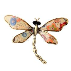 New Brooch Cute Enamel Dragonfly Brooches Pins Accessories For Women Brooches