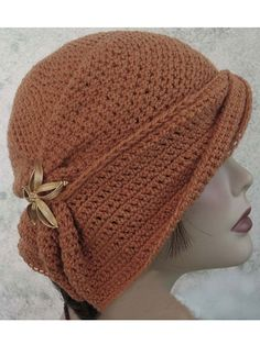 Draped Brim Flapper Hat