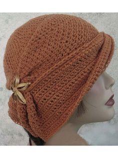 Draped Brim Flapper Hat
