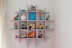 Maje Zmaje INTERIORS: Creative toy organisation Toy Organization, Maje, Floating Shelves, Shelving, Interiors, Display, Toys, Creative, Home Decor
