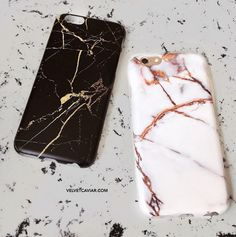 Black & Gold Marble iPhone Case