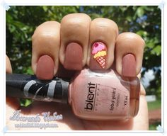 Livia Costa - Esmalte e Sorvete. Nail polish, Ice Cream, nails