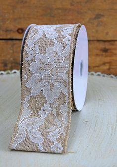 Lace and burlap ribbon