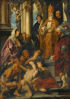 Saint Martin Healing the Possessed Man / San Martín sanando a un hombre poseído // 1630 // From the Augustinians in Antwerp // Jacob Jordaens // Private collection