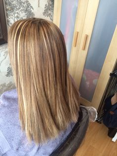 full head of highlights i done at home