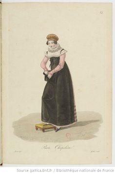Chapelière from Georges-Jacques Gatine, Costumes d'ouvrières parisiennes, 1824, BNF Paris