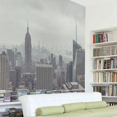 MANHATTAN , NEW YORK CITY WALL MURAL - PEEL & STICK