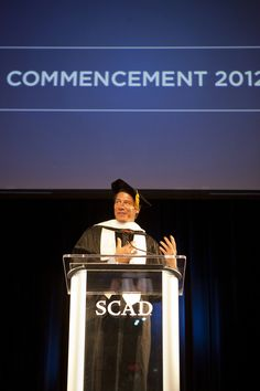 MOVE THAT BUS! Ty Pennington at #SCAD Commencement 2012 in #Atlanta