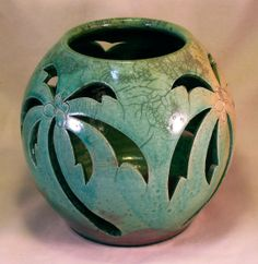 Palm Tree Candle Holder by DMWPotteryStudio on Etsy, $45.00