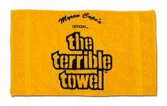 i just thought of something wonderful..we should take a terrible towel photo everywhere we go on her roadtrip!