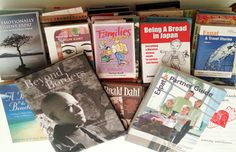 Look at all the new books in our expat library! Over 80 titles donated by Jo Parfitt. Thanks Jo! Get in touch with us if you want to visit/use our collection. Roald Dahl, Memoirs, Photo Book, New Books, Centre, Archive, Thankful, Touch, Collection