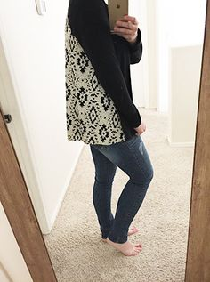 Mari Mixed Material Top in black by Le Lis | Stitch Fix No.03 Review