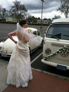 Bride with her V-dubs
