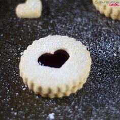 Vegan and Gluten-Free Linzer Cookies {Refined Sugar-Free} via @audreysnowe