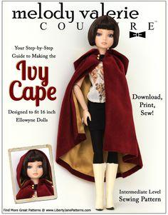 Ivy Cape Pattern for Ellowyne Wilde doll - 16 inch doll