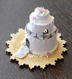 Purple Cake House 1:12 Scale