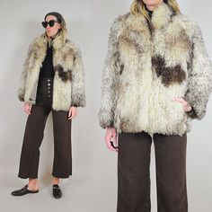 When winter isn't over yet ⛅️ 70's curly lamb fur coat just listed