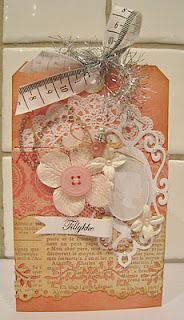 Tag with Cameo-tulle added behind the button & the tape measure at the top!