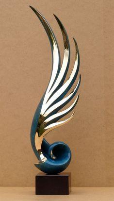 Bronze Cloud, Breeze, Wave & Wind sculpture by artist Charles Westgarth titled: 'Ascent (figurative Abstract Bronze Indoor statue)' £2,500
