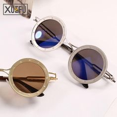 5.45$ (More info here: http://www.daitingtoday.com/2017-retro-round-sunglasses-steampunk-glasses-men-women-shades-circular-glasses-steam-punk-goggles ) 2017 Retro Round sunglasses Steampunk glasses men women shades circular Glasses Steam Punk Goggles for just 5.45$