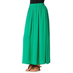 Target: Silk-Like Maxi Skirt - Pepper Green $39.00 // Style and Substance Magazine - Your online magazine for all things modest. http://www.styleandsubstancemagazine.com