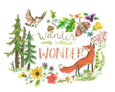 Inspire your little one to enjoy the wonder all around with this happy print.    Perfect for new parents, this landscape (horizontal) print is