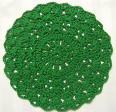 Foothills of the Great Smoky Mountains: Gemstone Doily; crochet hook size S can make this a great rug!