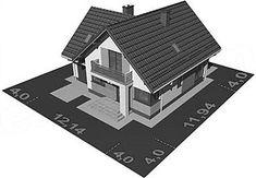 Usytuowanie projektu APS 184 NEW na działce Villas, Houses, Villa, Mansions