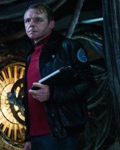 Simon Pegg Star Trek Beyond Jacket Simon Pegg, Star Trek Beyond, Black Faux Leather, Celebs, Stars, Movies, Jackets, Top, Celebrities